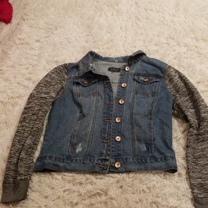 Denim sweater jacket LG unworn